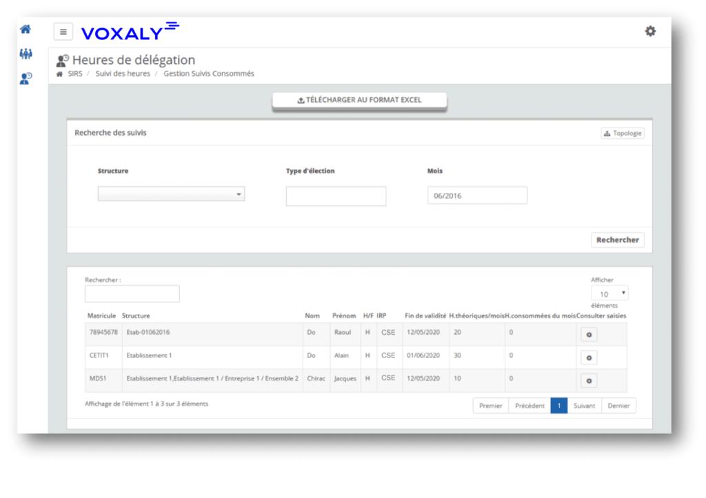 Voxaly | Outil de suivi des heures de délégation de vos élus CSE